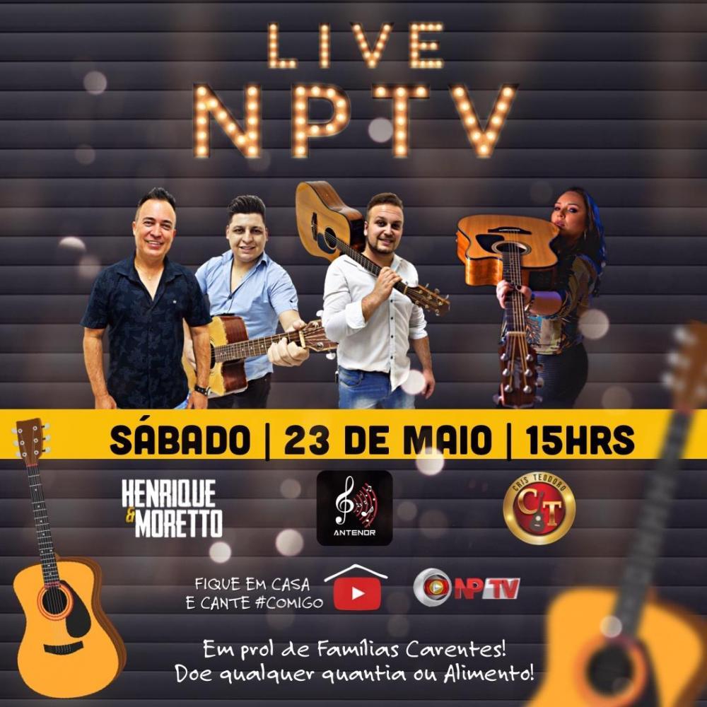 Live solidária NPTV em prol das famílias do Norte Pioneiro será neste sábado