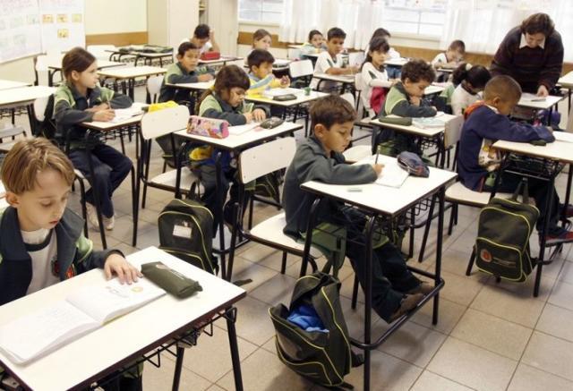 Sala de ensino fundamental em escola pública do Paraná. Foto: Gazeta do Povo