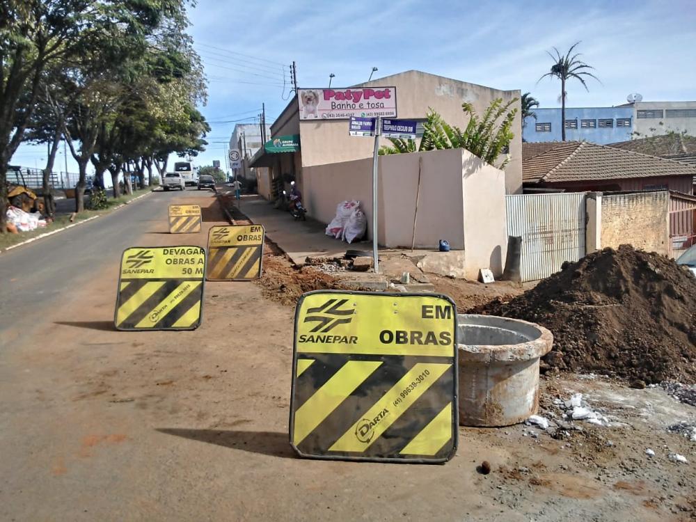 Obras da Sanepar com investimento de 30 milhões de reais já começaram em Ibaiti